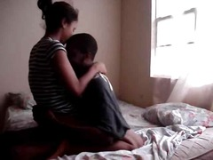 Young black couple fuck