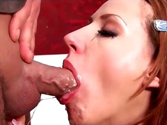 facefuck, european, brunette, messy, gagging