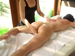 sensual, female-friendly, pussy-play, massage, fingering, oil, natural-breasts, orgasm
