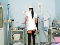 uniform, speculum, solo, stocking, t.y., pussy, toys, masturbation, nurse