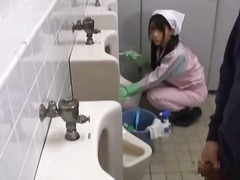 public, blowjob, voyeur, shower, outdoor, uniform, asian, bathroom, japanese