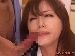Yobt TV:cum, head giving, suck, face-fuck, sucking, oral, ball-gag, japan, cum in mouth, sperm, nurse, uniform
