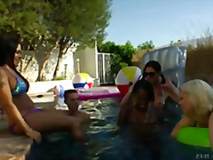 shemale, pool, group sex, hardcore, outdoor, orgy, blowjob, party