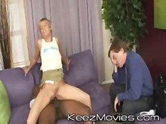 Keez Movies:großer schwanz, schwarz, blowjob, interracial, blond, teen, erniedrigung, teen, couch, doggy-style
