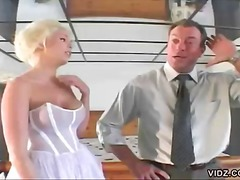 hardcore, couple, bride, pussy licking, blonde, boobs