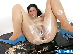 messy, vegetable, wet, cream-pie, whip, food, fruit, oil, fetish