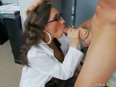 hardcore, big-tits, pornstar, brunette, babe, doctor, uniform, reality
