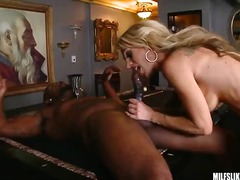 big-black-cock, blonde, interracial, big-tits, hardcore, milf, rough