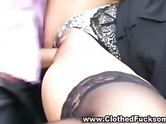 threesome, clothed, satin, glamour, hardcore, european, blowjob, classy, group