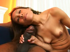 shaved, brunette, small-tits, oral, interracial, hardcore, nipples, big-tits, blowjob, latin, braces, cock-riding