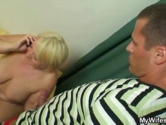 Masturbating mature pumped hard
