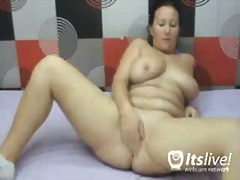 thong, mature, brunette, solo, doggystyle, webcam, bed, ass
