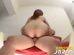 Naughty japanese bitch karin aizawa getting tight pussy humped by a huge dick