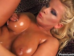 Pair of perfect boobs get rammed