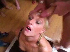 pornstar, pigtails, blowjob, group-sex, cumshot