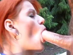 redhead, babe, t.y., butthole, whore, outdoors, ass, pornstar, anal, blowjob, cumshot