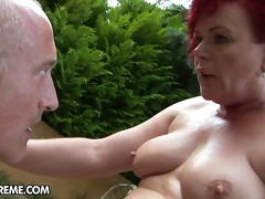 old, reverse, granny, blow, doggy-style, red-head, redhead, doggys, outdoors, hand-job, girl-on-girl, hard, fatty, oral,