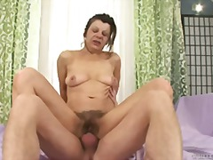 Older, more experienced slut with a hairy cunt ready to fuck