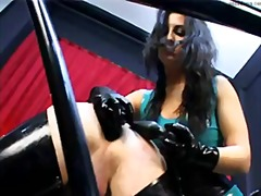 girl-on-girl, guy, face-fucking, femdom