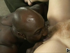 harter sex, blowjob, interracial, blowjob, oral, rothaarig, große brüste, haarig, blowjob, schwarz, fotze, oral