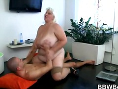 ouer, blond, bbw, hard