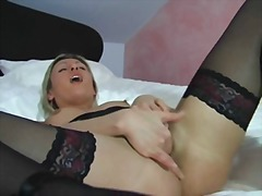 fetish, blonde, foot-fetish, masturbation