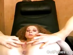 Slutty girl takes a cock in her hairy snatch