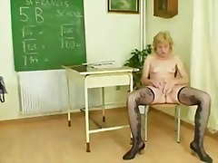 ouer, milf, harig, sykous, blond
