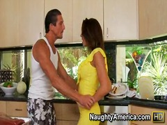 shaved, big-dick, chair, deepthroat, hand-job, friend, kitchen, blow, floors