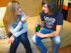 college, teen, double penetration, pärchen, teen, blowjob, finger, rasiert, betrunken, weiße, blond, amateur