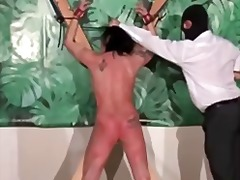 Old dirty slut enjoys in bondage