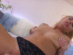 solo, lingerie, gonzo, masturbation, toy, blonde, tattoo, anal, babe