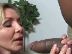 interracial, loura, mamãe sexy, hardcore