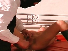 fetish, tied, bdsm, nipples, upper, slave, brunette, bondage, masturbation, spank, bound