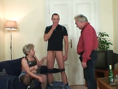 housewife, wife, grandma, mature, old, granny, older, reality, mom, young, blowjob, blonde
