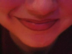 Mouth and lips fetish tease in close up
