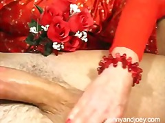 milf, handjob, closeup, orgasm, lingerie, housewife, reality, couple, valentine, homemade, cumshot, breasts