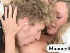 mature, threesome, blonde, mom, teen