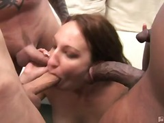 cock, big, hardcore, black, blowjob, redhead, oral, 3some, interracia, mmf