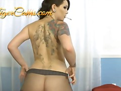 model, smoking, cigarette, fetish, brunette, booty, kinky