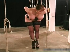 slave, bound, bondage, big, fetish, upper, spank, bdsm, tits, tied