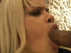 shemale, blond, college, blowjob, guy, dominanz