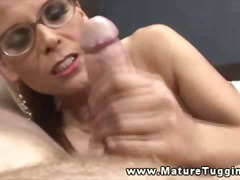 Horny milf wants a handfull of his dick