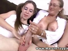 wanking, jerking, handjob, mature, big, boobs