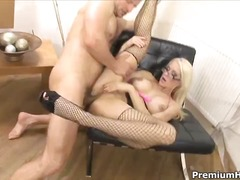 blonde, sex dur, analsex, ude, deget in fund