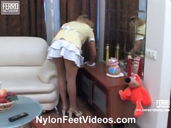 Hot nylon feet videos video starring susanna, mia, irene