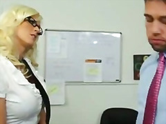 heels, fucking, office, blonde, tattoo, pussy, cock