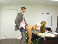 from, tease, blonde, grey, eyes, ass, office