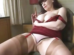 solo, striptease, strip, cameltoe, stockings, pussy, mature, granny, milf, upskirt, busty, tits, boobs, big