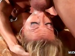 Blond, Milf, Bj, Hand Job, Kom Skoot